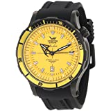 Vostok Europe Anchar Men's Automatic Diver Watch Yellow and Black NH35A/5104144 (Color: black)
