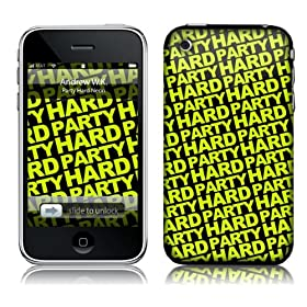 Music Skins iPhone 3G/3GS�p�t�B����  Andrew WK - Party Hard Neon  iPhone 3G/3GS   MSRKIP3G0280