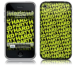 Music Skins iPhone 3G/3GS用フィルム  Andrew WK - Party Hard Neon  iPhone 3G/3GS   MSRKIP3G0280