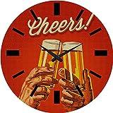 MeSleep Cheers Wall Clock With Glass Top