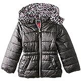 Pink Platinum Little Girls' Puffer Coat with Foil Spray