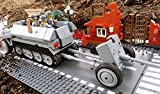 Modbrix 2180 - ✠ Bausteine Panzer Abwehrkanone PAK Stellung & inkl. custom Wehrmacht Soldaten aus original Lego© Teilen ✠ - 2