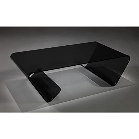 Omega Coffee Table in Black Glass