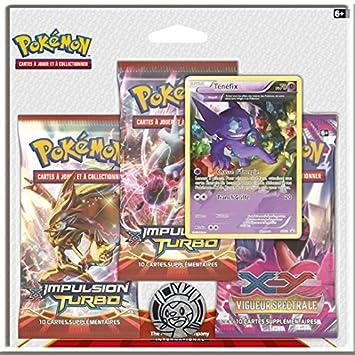 Pokémon - 3pack01xy08 - Jeu De Cartes - Pack De 3 Boosters - XY08 - Origines Antiques - Modèle Aleatoire