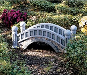 Decorative british bridge garden pond outdoor for Decorative fish pond bridge