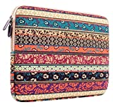PLEMO Bohemian Style Canvas Fabric 13-13.3 Inch Laptop / Notebook Computer / MacBook / MacBook Pro / MacBook Air Sleeve Case Bag Cover, Mystic Forest