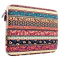 PLEMO Bohemian Style Canvas Fabric 12-12.5 Inch Netbook / Laptop / Notebook Computer Sleeve Case Bag Cover, Mystic Forest
