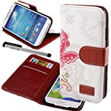Urvoix(TM) PU Leather Credit Card Holder Wallet Flip Stand Case Cover for Samsung Galaxy S4 i9500