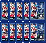 2015/2016 Topps Champions League Soccer lot of TEN(10)Factory Sealed Foil Packs with 50 Stickers ! Look for Stickers of Top Stars including Messi, Ronaldo, Messi, Neymar, Suarez, Neuer & Many More!