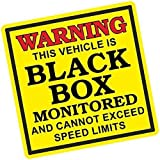 Sticar-it Ltd This Vehicle Is BLACK BOX Monitored Warning Insurance for Young Driver Car Sticker Decal 110x110mm approx.
