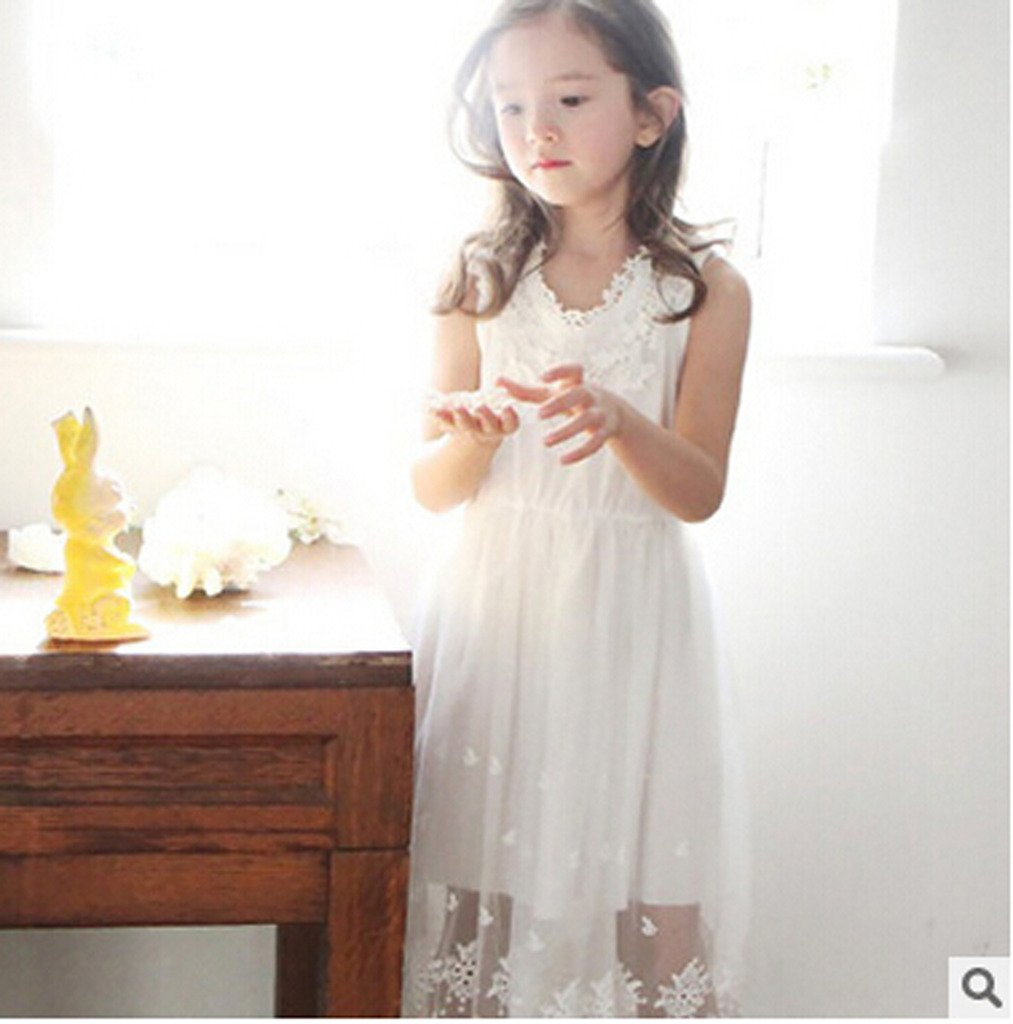 Bow Dream Flower Girl's Dress Vintage Lace 2