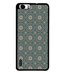 PrintDhaba Pattern D-5265 Back Case Cover for HUAWEI HONOR 6 PLUS (Multi-Coloured)