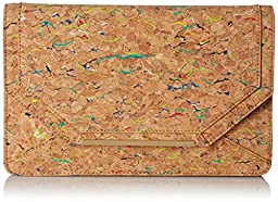 BCBG Cork Envelope Clutch, Multi Color Combo, One Size
