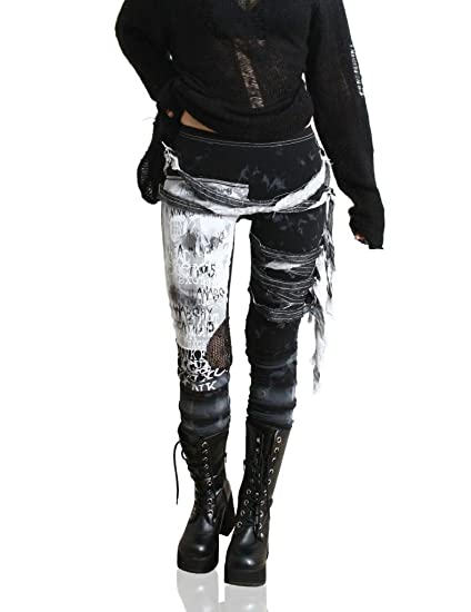 Refuse to be Usual women's Ultra long Tie Dye Gothic Punk