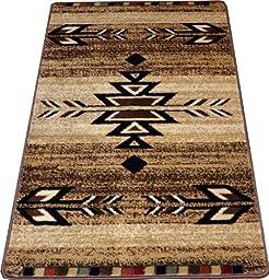 Dean Santa Fe Beige Southwestern Lodge Cabin Carpet Rug Runner Mat, Size: Approximately 50\