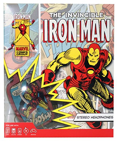 Marvel Swivel Stereo Headphones - Iron Man (Retro) - 1