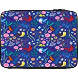 Snoogg Bird Floral Patterns 12 To 12.6 Inch Laptop Netbook Notebook Slipcase Sleeve