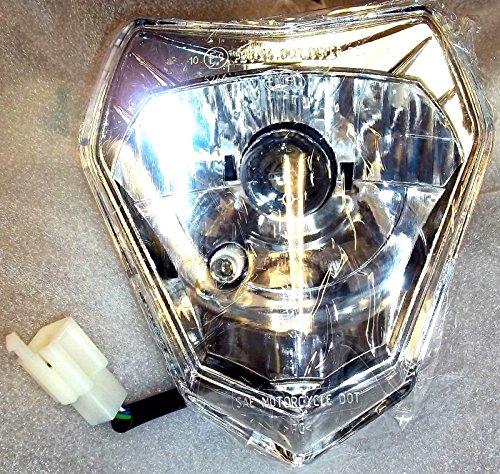NEW KTM 200 250 300 450 530 XC EXC XCW COMPLETE HEADLIGHT HEADLAMP 78014001000 (Ktm 300 Headlight Switch compare prices)