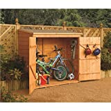 6FT(1.83m) x 3FT (0.83m)DELUXE TONGUE & GROOVE WALLSTORE/BIKE SHED