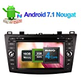 Flynavigo 8 Inch Android 6.0 Car Audio Stereo Octa Core Double Din DVD CD Player with Bluetooth GPS Navigation Touch Screen for Mazda 3 2010- Support WIFI,USB SD,SWC,Backup Camera (Tamaño: Android 6.0(Octa Core))