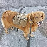 YSM Leinwand-Hunderucksack Cotton Canvas Rucksack Hound Reisen Camping Wandern Rucksack Satteltasche Rucksack für Medium und Large Dog -