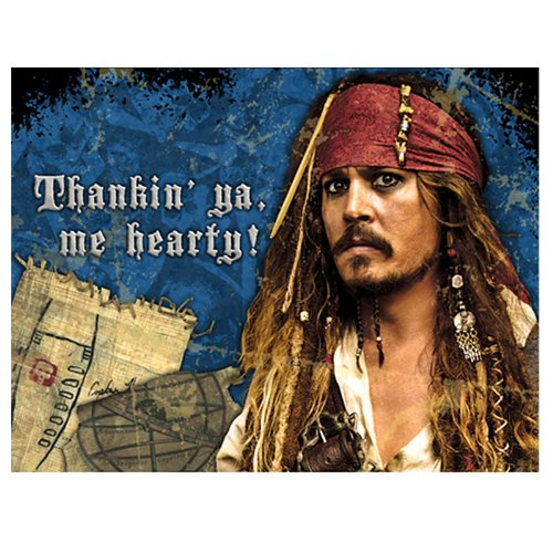 Pirates of the Caribbean 'On Stranger Tides' Thank You Notes (8ct)