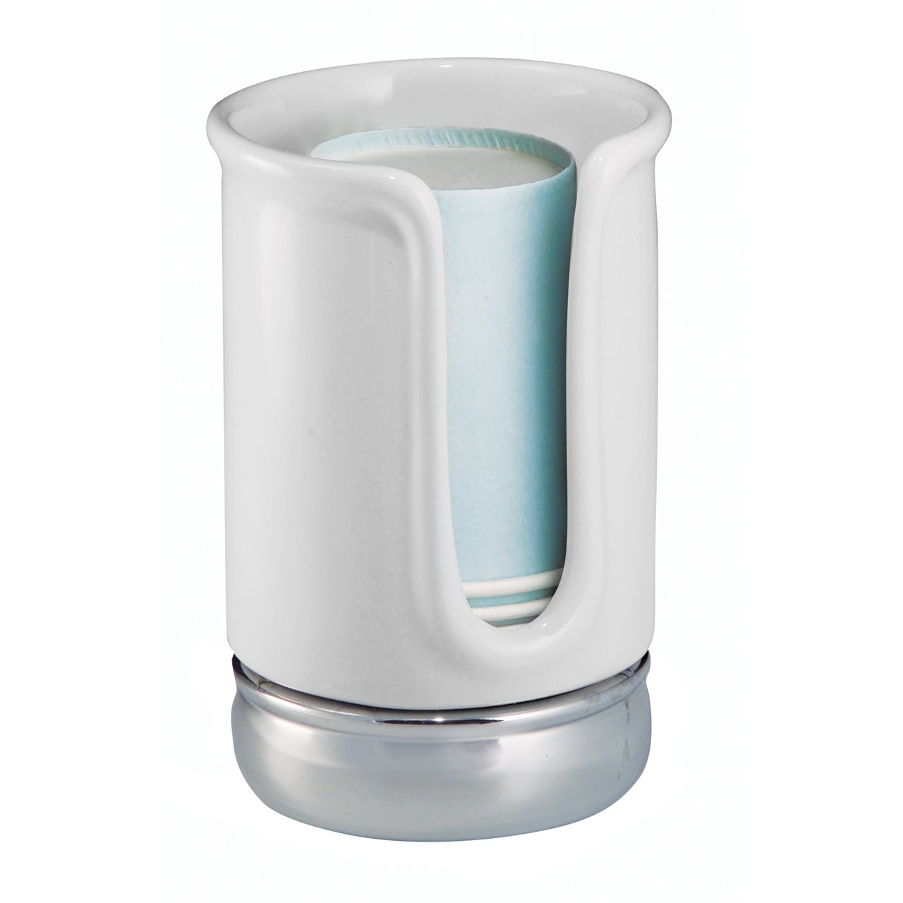 Interdesign york bath collection disposable cup dispenser for Inter designs