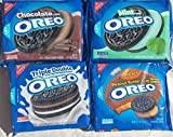 Oreos Party Pack Bundle 4 Flavors Mint, Chocolate, Reeses, and Triple Double