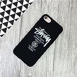 STUSSY ステューシー iPhone7用ケース iPhone7PLUSカバー ケースロゴデザイン フリント ブランド ヒップホップド (iphone7 plus, ブラック) [並行輸入品]