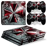 ZOOMHITSKINS PS4 Pro Skin Decal Sticker Umbrella Custom Design + 2 Controller Skins Set