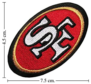 San Francisco 49ers Logo 1 Iron on Patches From Thailand