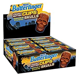 Butterfinger Halloween Candy Peanut Butter Cup Skull Single, 24 Count (Pack of 24)