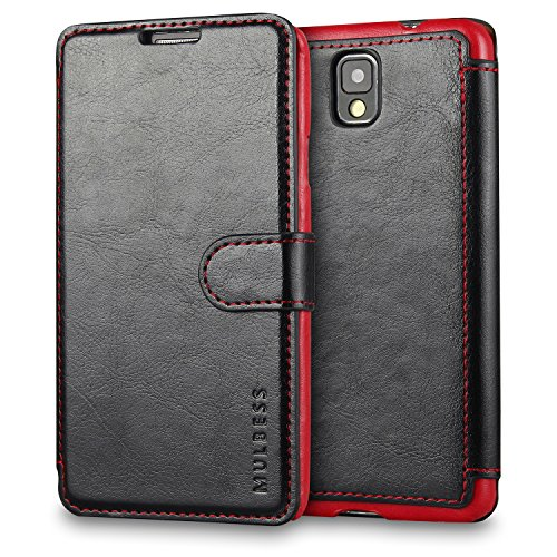 Custodia Per Galaxy Note 3 - Mulbess Custodia In Pelle Con Wallet Case Cover Per Samsung Galaxy Note 3 III N9000 N9005 - Nero [Credit Card Slot Vintage Series]