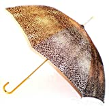 """Cheetah"" Animal Print Full Size Stick Art Umbrella with Automatic Push Button Opening, Great Gift Idea ~ Animal Print Umbrellas"