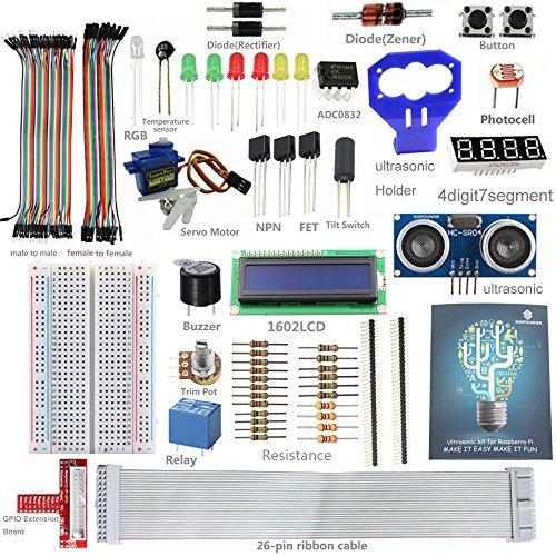 sunfounder-lcd-ultrasonic-relay-sensor-electronic-bricks-starter-kit-w-26-pin-gpio-extension-board-1