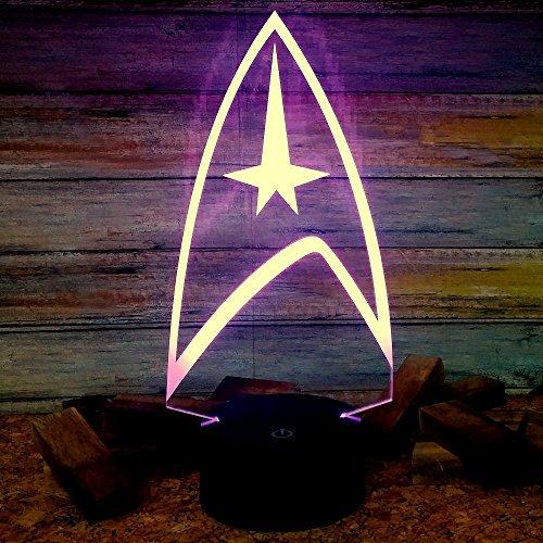Star Trek Light Lamp, Multi Color Led Sign, Light Decal, Star Trek Gifts
