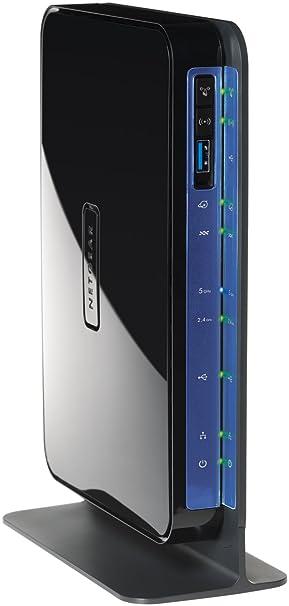 Netgear DGND3700-100PES Modem ADSL2+ Routeur Firewall Wifi N600 Dual Band Commutateur 5 Ports Gigabits 2 Ports USB