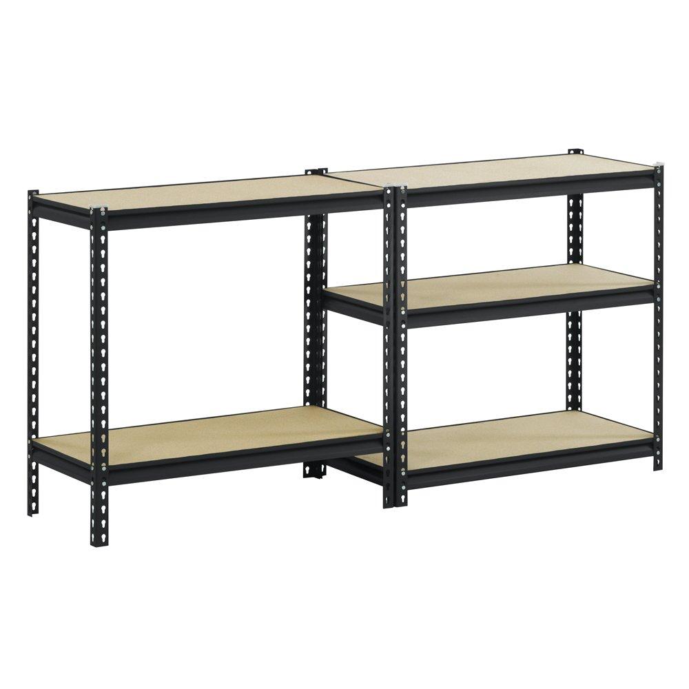 Commercial Industrial Steel 5 Tier Shelving Work Bench Garage Storage System Mdf Ebay