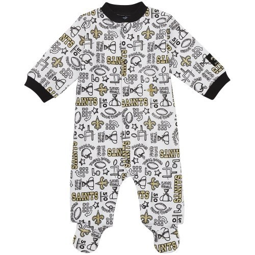 NFL New Orleans Saints Boy's Sleep N Play Sleepers, 3-6 Months, Black at Amazon.com