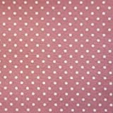 Rose Pink 100% Poplin Cotton Fabric with White Polka Dots (Per Metre)