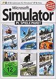 Microsoft Simulator PC Spiele Paket (Helicopter Simulator / Jet Simulator / Racing Simulator / Motocross Simulator / Business Simulator / Söldner - Die Simulation)