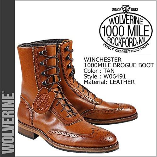 (ウルヴァリン)WOLVERINE ブーツ 1000MILE WINCHESTER BROGUE BOOT Dワイズ 1000マイル ワークブーツ W06491 28.5 TAN (並行輸入品)