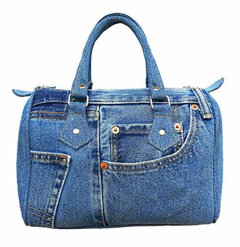 BDJ Classic Blue Denim Jean Doctor Style Women Handbag (LL-04) (Hermes Jelly Bag compare prices)