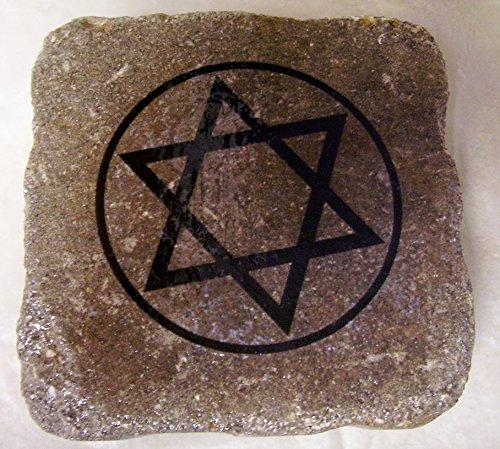 Jewish Garden Hebrew Rock Magen David Star of David Shield of David Judaica Art Stone Memorial Stone Bereavement Cemetery Rock