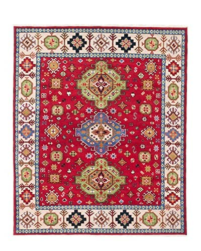 eCarpet Gallery One-of-a-Kind Hand-Knotted Royal Kazak Rug, Red, 8' 2 x 9' 9
