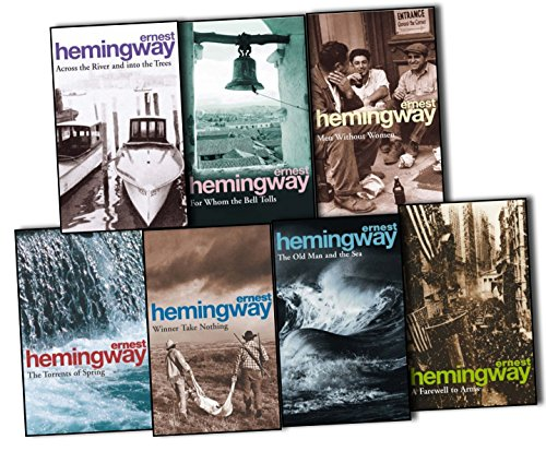 Ernest Hemingway (Arrow Classic) 7 Books Collection Pack Set (For Whom the Bell Tolls, A Farewell To Arms, The Old Man and the Sea, Across The River And Into The Trees, Winner Take Nothing, The Torrents Of Spring, Men Without Women) Sea Arm Vii Set