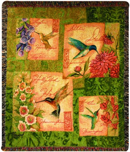 Manual Take Flight Collection 50 X 60-Inch Tapestry Throw, Wings And Blossoms By Susan Winget front-992961