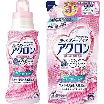 アクロン おしゃれ着洗剤 フローラルブーケの香り 本体 500ml + 詰替 400ml