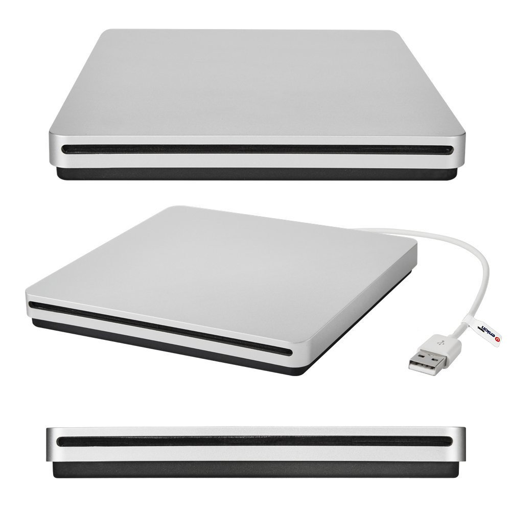 VersionTech USB External Slot DVD VCD CD RW Drive Burner Superdrive for Apple Macbook Pro Air iMAC