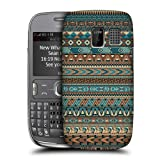 Head Case Designs Blue Amerindian Patterns Protective Snap-on Hard Back Case Cover for Nokia Asha 302